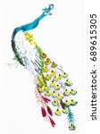 training drawing in suibokuga... | Shutterstock . vector #689615305