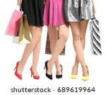 young women with beautiful legs ... | Shutterstock . vector #689619964