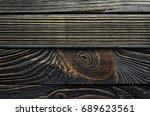 old  weather worn wood board...   Shutterstock . vector #689623561