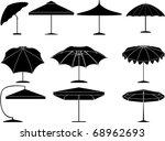 parasol collection | Shutterstock .eps vector #68962693