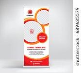 banner template for advertising ... | Shutterstock .eps vector #689635579