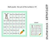 worksheet. the task    go... | Shutterstock .eps vector #689641609
