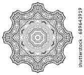 outline mandala for coloring... | Shutterstock .eps vector #689643919