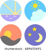 icon set for morning  noon ... | Shutterstock .eps vector #689655691