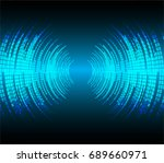sound waves oscillating dark... | Shutterstock .eps vector #689660971