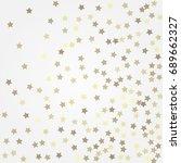 gold glittering background... | Shutterstock .eps vector #689662327