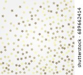 gold glittering background... | Shutterstock .eps vector #689662414