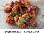 tasty homemade korean style... | Shutterstock . vector #689669245