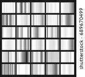 vector silver swatches gradient ... | Shutterstock .eps vector #689670499