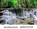 huay mae kamin waterfall in... | Shutterstock . vector #689670769