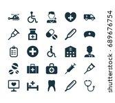 antibiotic icons set.... | Shutterstock .eps vector #689676754