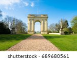 entrance to stowe gardens near... | Shutterstock . vector #689680561