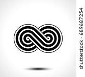 infinity symbol icon vector...   Shutterstock .eps vector #689687254