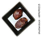 dried medjool dates in small... | Shutterstock . vector #689690215