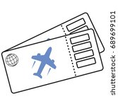 airline ticket vector icon