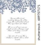 vintage delicate invitation... | Shutterstock .eps vector #689707171
