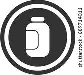 jar icon   circle sign design | Shutterstock .eps vector #689714011