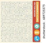 commerce icon set vector   Shutterstock .eps vector #689725375
