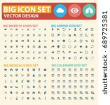 big icon set vector | Shutterstock .eps vector #689725381