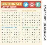 big icon set vector | Shutterstock .eps vector #689725429