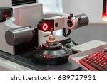 high technology tool presetting ... | Shutterstock . vector #689727931