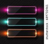 vector purple glowing glass... | Shutterstock .eps vector #689732461