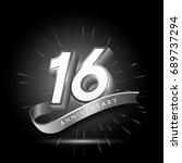 16 years silver anniversary... | Shutterstock .eps vector #689737294