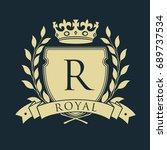 royal coat of arms. heraldic... | Shutterstock . vector #689737534