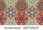 colorful seamless pattern in... | Shutterstock .eps vector #689738329
