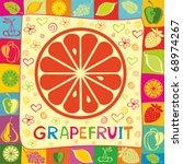 grapefruit vector illustration   Shutterstock .eps vector #68974267