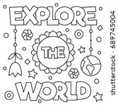 Explore The World. Coloring...