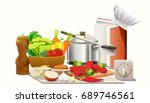 cooking experiments in the...   Shutterstock .eps vector #689746561