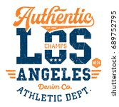los angeles athletic dept.  ... | Shutterstock .eps vector #689752795