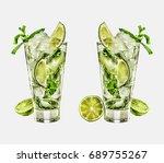 mojito | Shutterstock . vector #689755267