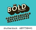 vector of bold modern font and... | Shutterstock .eps vector #689758441