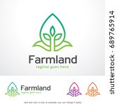 farmland logo template design... | Shutterstock .eps vector #689765914