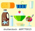 dairy milk products organic... | Shutterstock .eps vector #689770015