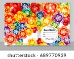 template cover of a copybook... | Shutterstock .eps vector #689770939