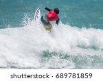 july 29  unidentified surfer in ...   Shutterstock . vector #689781859