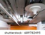 electric wires in aluminum... | Shutterstock . vector #689782495