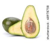 avocado isolated on white...   Shutterstock . vector #68978758