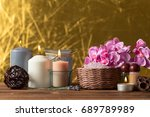 spa products with orchids | Shutterstock . vector #689789989