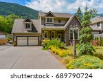 big family house with wide...   Shutterstock . vector #689790724