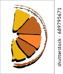 icon share of abstract orange... | Shutterstock .eps vector #689795671