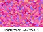 light pink  red vector crooked... | Shutterstock .eps vector #689797111