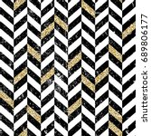 gold and black chevron pattern. ... | Shutterstock . vector #689806177