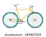 vector illustration of road... | Shutterstock .eps vector #689807509
