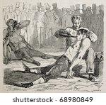 antique humorous illustration... | Shutterstock . vector #68980849