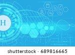 medical health technology care... | Shutterstock .eps vector #689816665