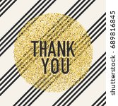 thank you. invitation card... | Shutterstock . vector #689816845